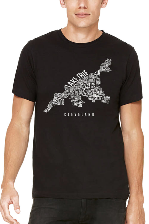 Cleveland Neighborhood Map  - Unisex Crew - CLE Clothing Co.