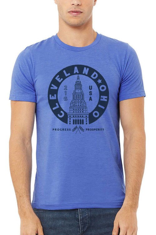 Terminal Tower Seal - Unisex Crew - Heather Blue