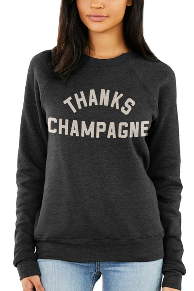 b10b7737d16 Thanks Champagne - Fleece Crewneck Sweatshirt – CLE Clothing Co.