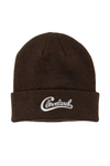 Groovy Cleveland Script Beanie - Brown - CLE Clothing Co.