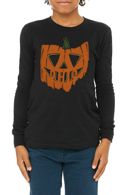 Ohio Pumpkin - Youth Longsleeve Crew - CLE Clothing Co.