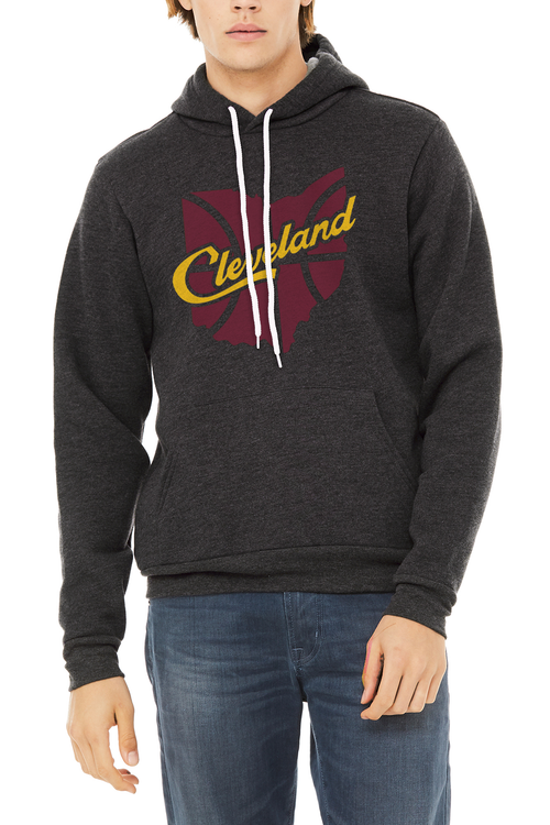 Cleveland Script Ohio Basketball - Unisex Pullover Hoodie