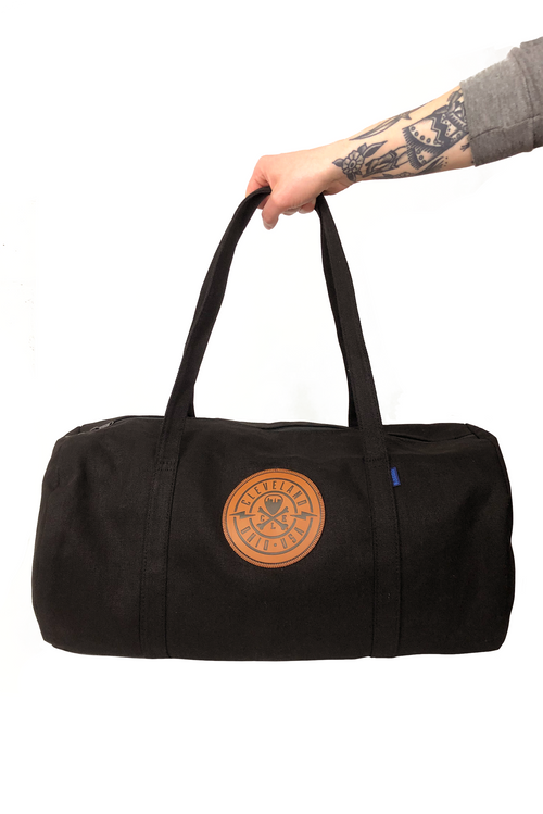 Baggu Canvas Duffel Bag with CLE Logo Leather Patch - CLE Clothing Co.
