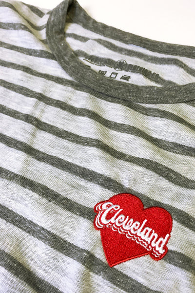Cleveland Heart - Embroidered - Womens Crew