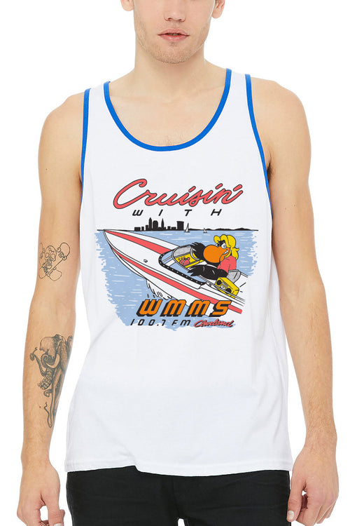 Cruisin' With WMMS - Unisex Tank Top - CLE Clothing Co.