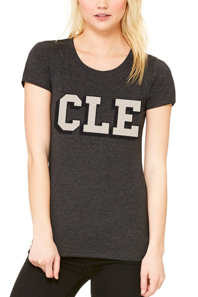 CLE College - Black/White - Womens Crew