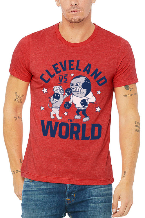 Cleveland vs The World Red - Unisex Crew - CLE Clothing Co.