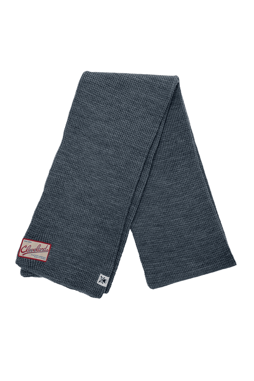 CLE Clothing Waffle Knit Scarf - Charcoal - CLE Clothing Co.