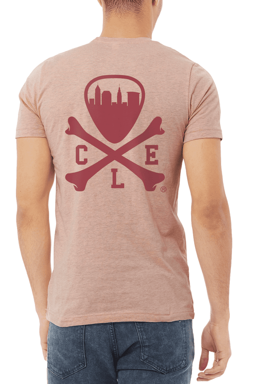 CLE Logo - Unisex Crew - Heather Peach