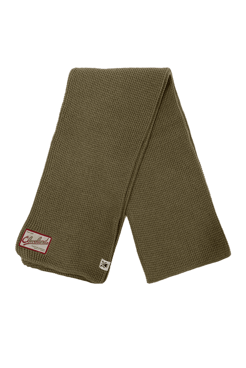 CLE Clothing Waffle Knit Scarf - Khaki - CLE Clothing Co.