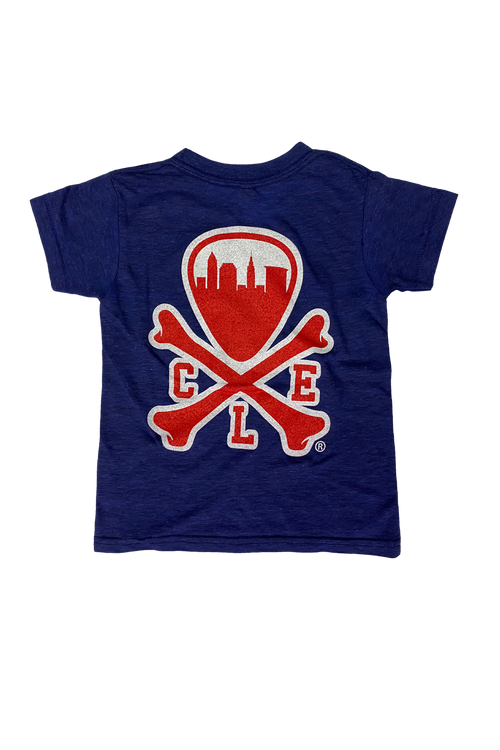 CLE Logo - Kids Crew - Navy/Red