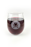 CLE Logo Seal Stemless Wine Glass