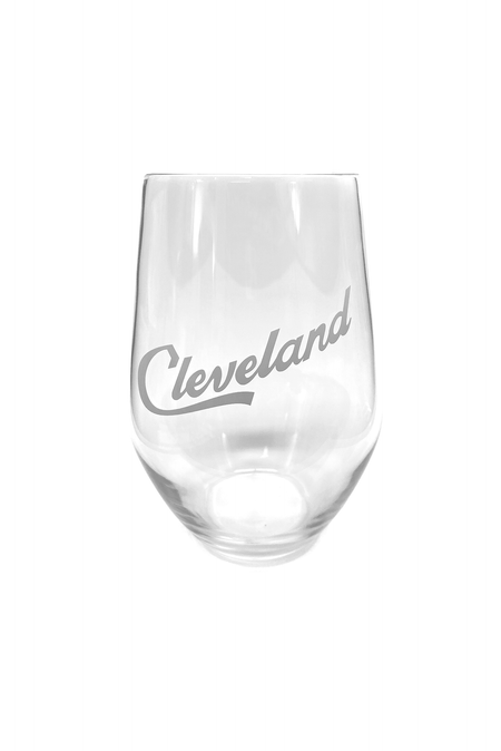 Cleveland Script Old Fashioned Glass