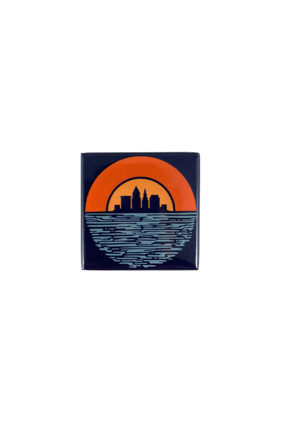 Cleveland Sunset - Fridge Magnet - CLE Clothing Co.
