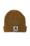 CLE Logo Waffle Knit Beanie - Latte - CLE Clothing Co.