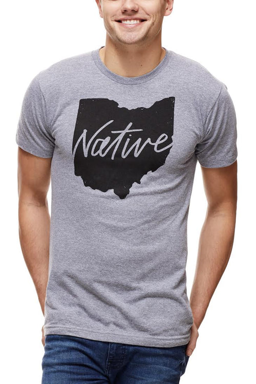 Native Ohioan - Unisex Crew - Grey - CLE Clothing Co.