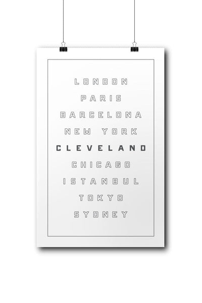 Cleveland World Class - Poster - CLE Clothing Co.