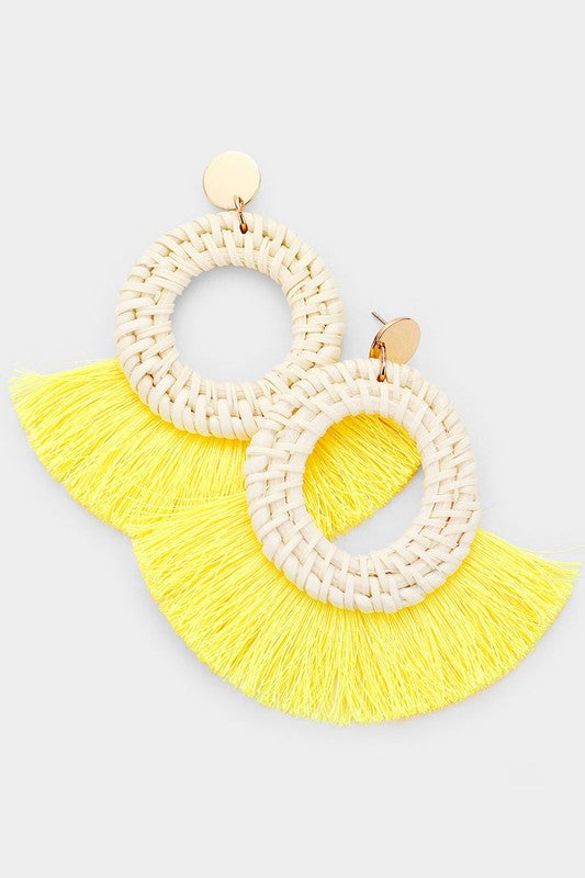 Woven Tassel Earrings