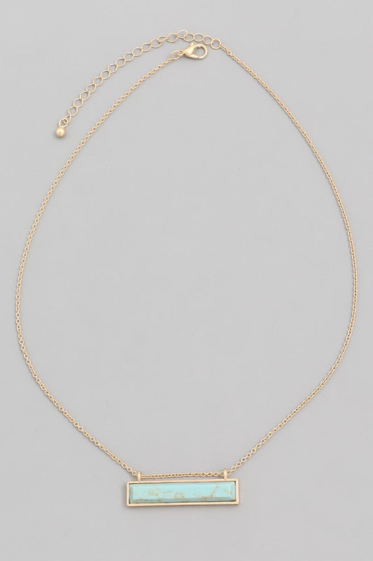 S Bar Necklace