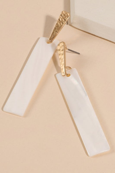 White Simply Chic Earrings