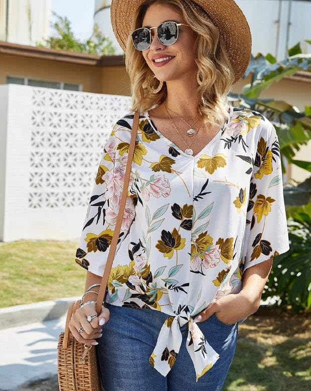 GORGEOUS GARDEN FLORAL TOP