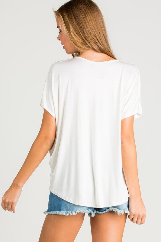 Jersey Twisted Front Top