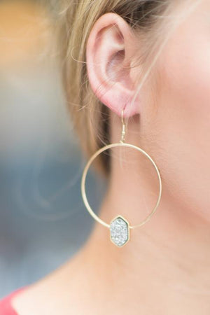 Rain Drop Hoop Earrings - Imagine Boutique