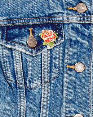 Ban.do Will You Accept This Rose? Enamel Pin - Imagine Boutique