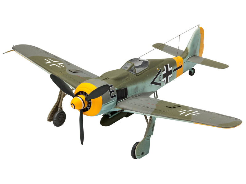 Revell Focke Wulf Fw190 F-8 1:72 Scale Airplane Model Kit With Paints & Glue