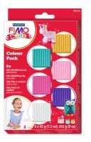 FIMO Kid's Pastel Colour Block 6 Pack Modelling Clay