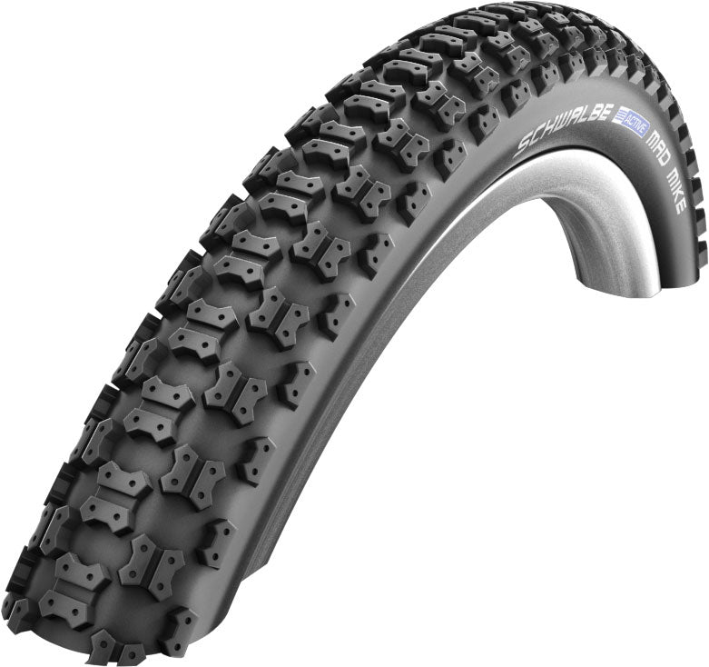 "16"" Bike Tyre Clincher Schwalbe Mad Mike Wire 16x2.125"" Black"