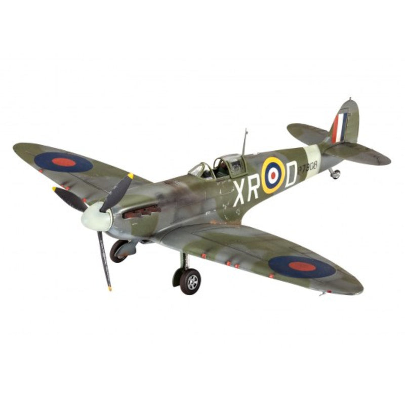 Revell Spitfire Mk.II 1:48 Scale Airplane Model Kit With Paints & Glue