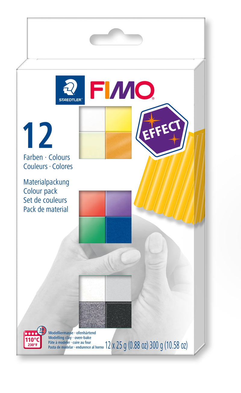 FIMO Effect Colour Half Blocks 12 Pack Modelling Clay