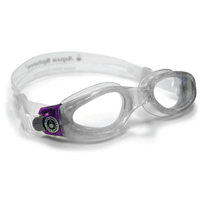 Aqua Sphere Kaiman Small Men's Swimming Goggles Transparent/Purple Clear