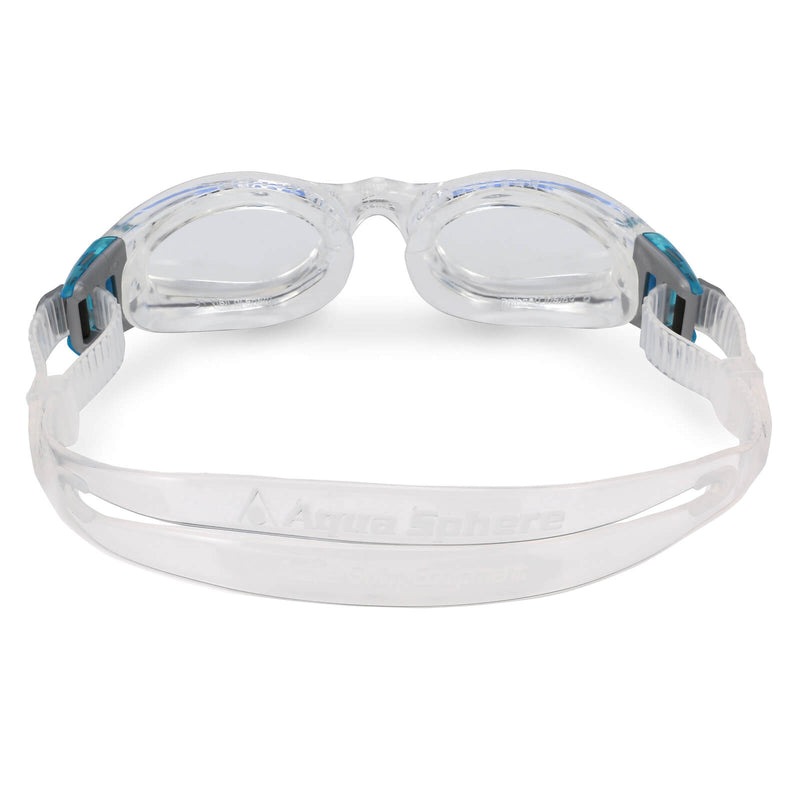 Aqua Sphere Kaiman Small Men's Swimming Goggles Transparent/Turquoise Clear Alternate 3