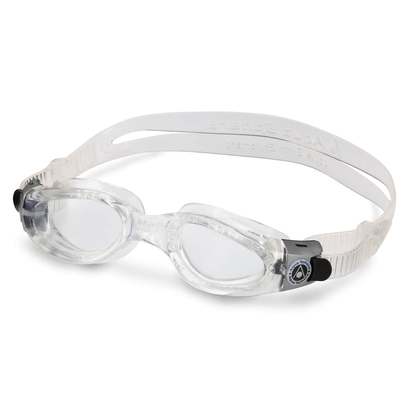 Aqua Sphere Kaiman Small Men's Swimming Goggles Transparent Clear Alternate 2