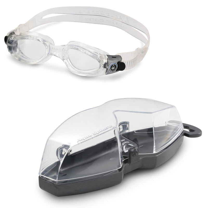 Aqua Sphere Kaiman Small Men's Swimming Goggles Transparent Clear Alternate 4