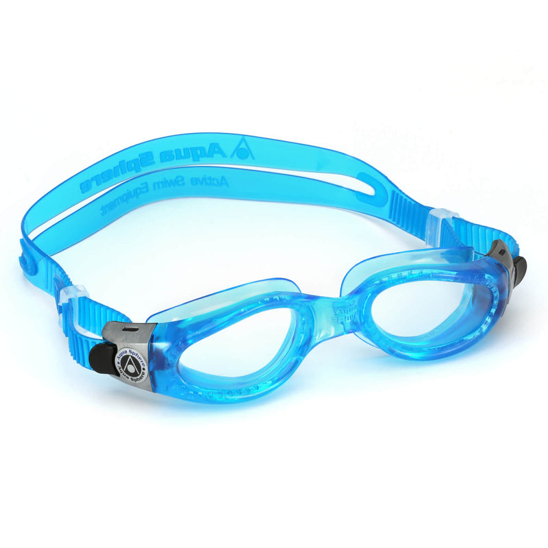 Aqua Sphere Kaiman Small Men's Swimming Goggles Light Blue Clear