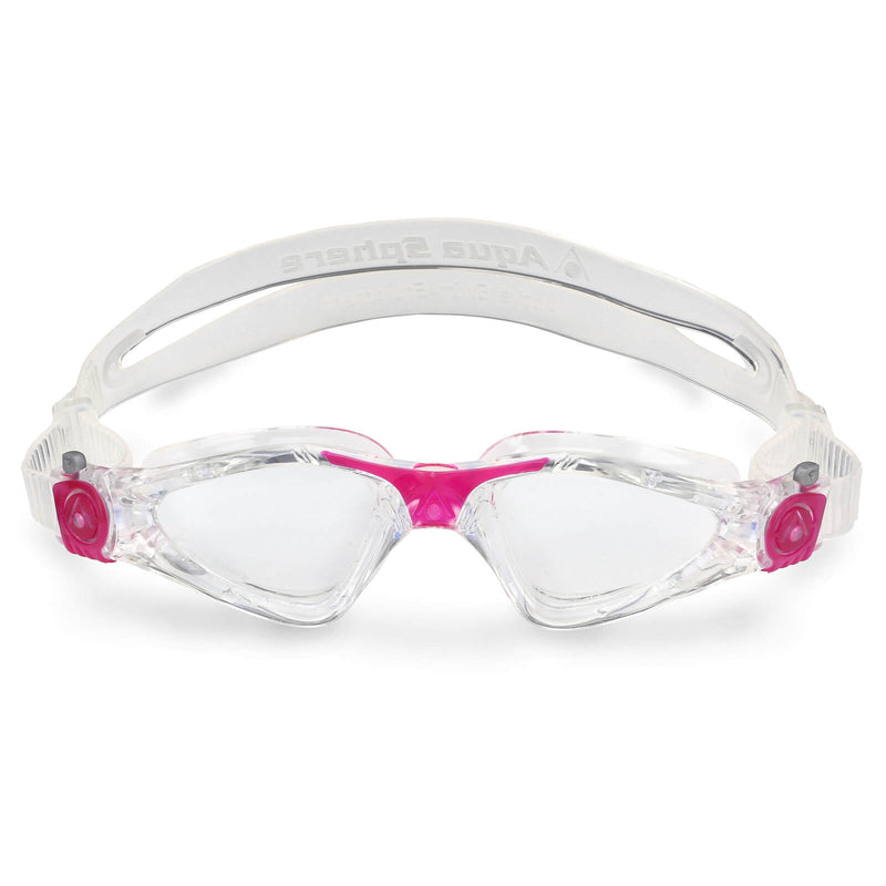 Aqua Sphere Kayenne Small Men's Swimming Goggles Transparent/Dark Pink Clear Alternate 1