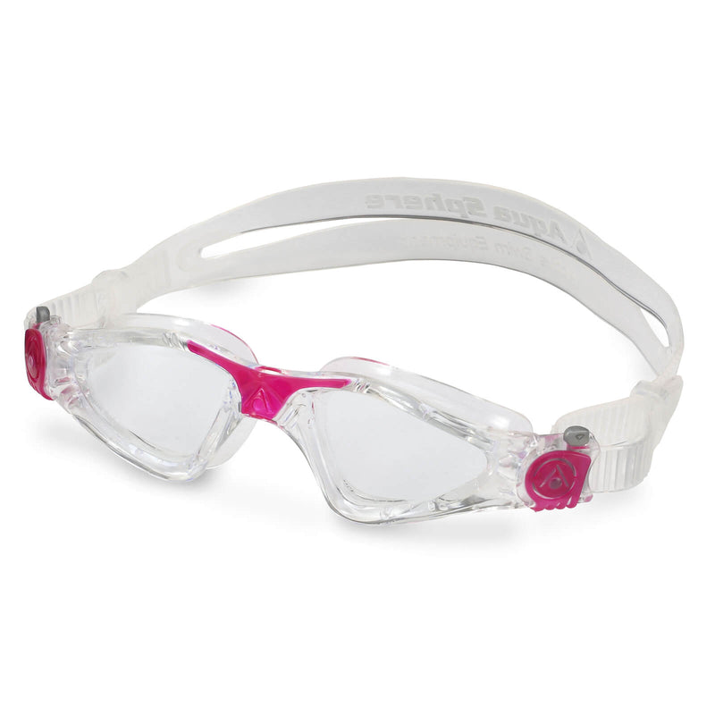 Aqua Sphere Kayenne Small Men's Swimming Goggles Transparent/Dark Pink Clear Alternate 2