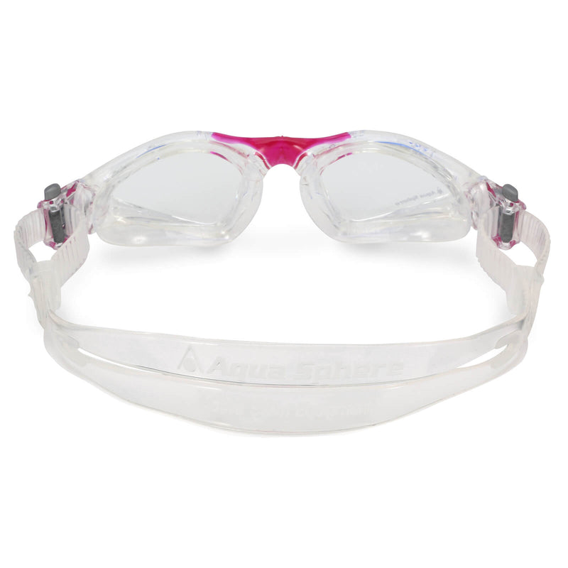 Aqua Sphere Kayenne Small Men's Swimming Goggles Transparent/Dark Pink Clear Alternate 3