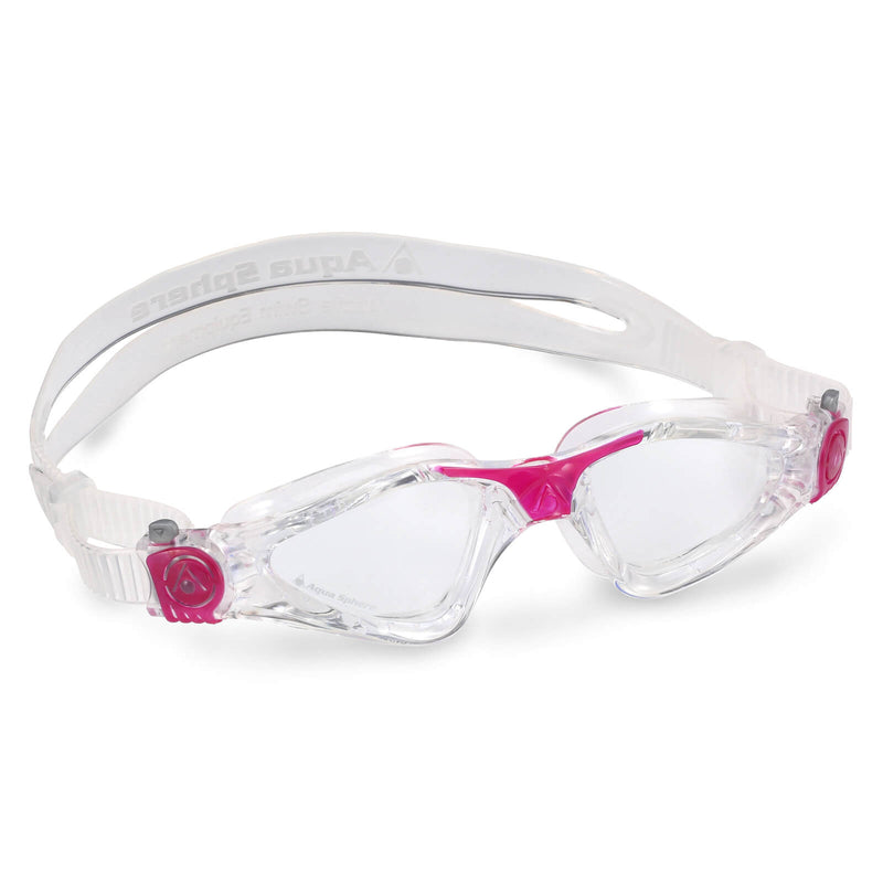 Aqua Sphere Kayenne Small Men's Swimming Goggles Transparent/Dark Pink Clear
