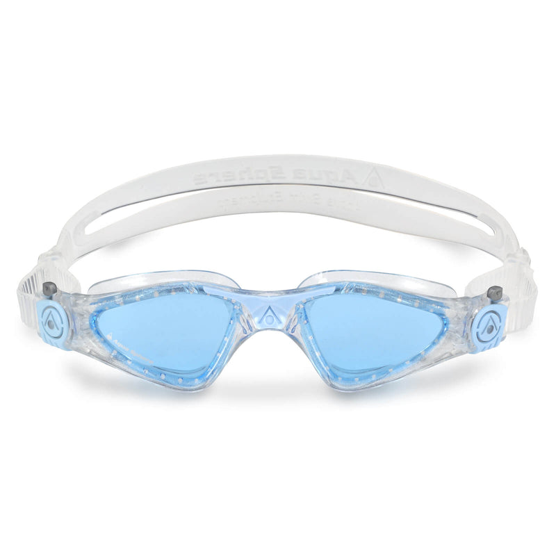 Aqua Sphere Kayenne Small Men's Swimming Goggles Transparent/Light Blue Blue Alternate 1