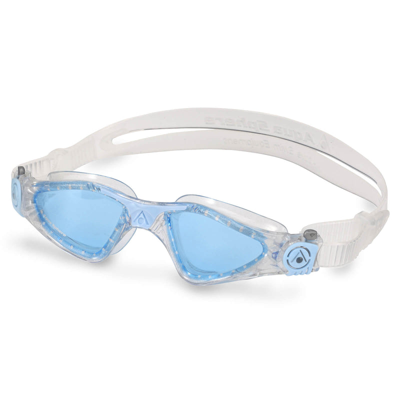 Aqua Sphere Kayenne Small Men's Swimming Goggles Transparent/Light Blue Blue Alternate 2
