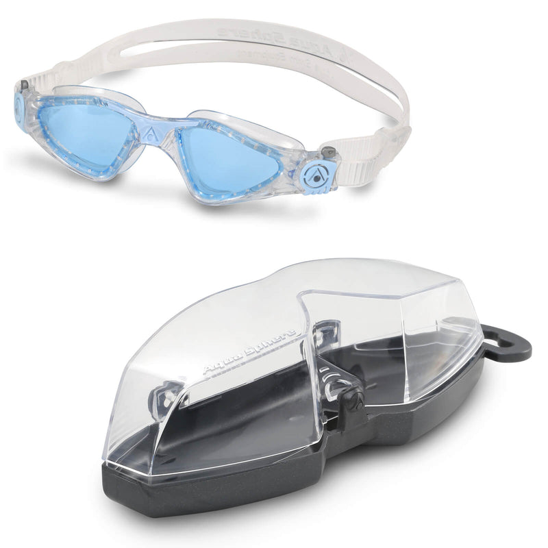 Aqua Sphere Kayenne Small Men's Swimming Goggles Transparent/Light Blue Blue Alternate 4