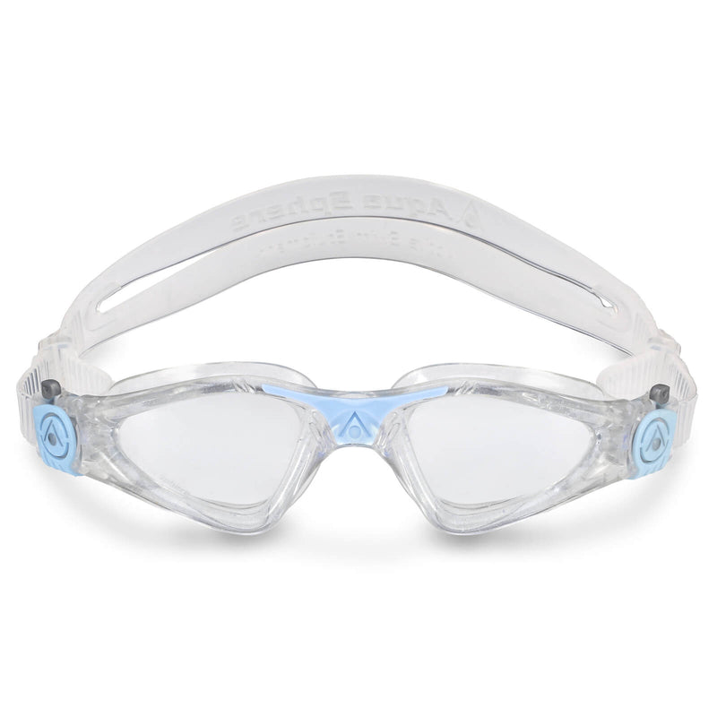 Aqua Sphere Kayenne Small Men's Swimming Goggles Transparent/Light Blue Clear Alternate 1