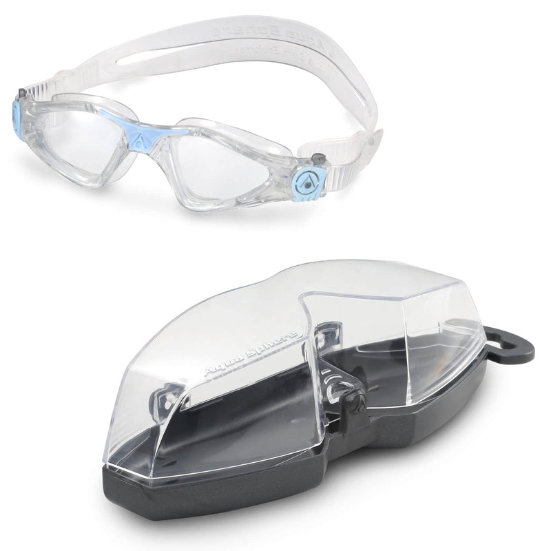 Aqua Sphere Kayenne Small Men's Swimming Goggles Transparent/Light Blue Clear Alternate 4
