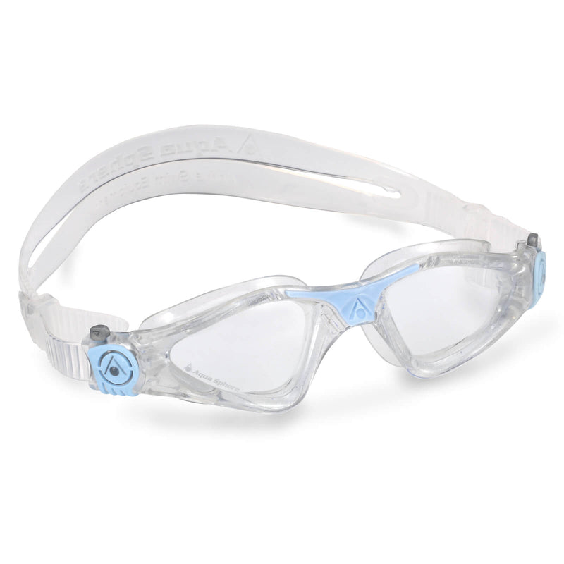 Aqua Sphere Kayenne Small Men's Swimming Goggles Transparent/Light Blue Clear