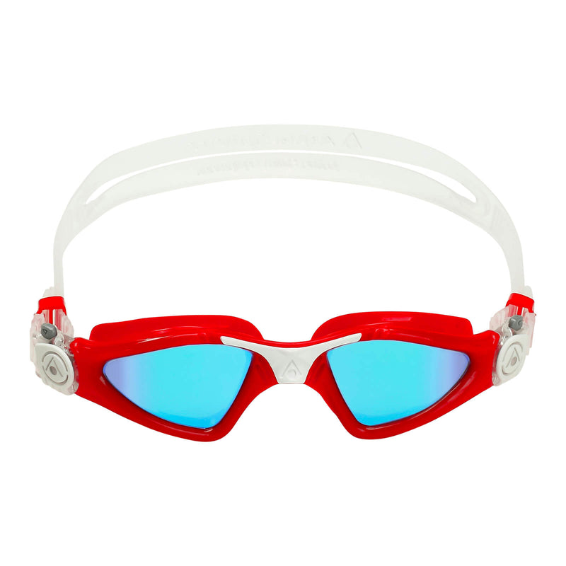 Aqua Sphere Kayenne Small Men's Swimming Goggles Red/White Mirror Blue Alternate 1