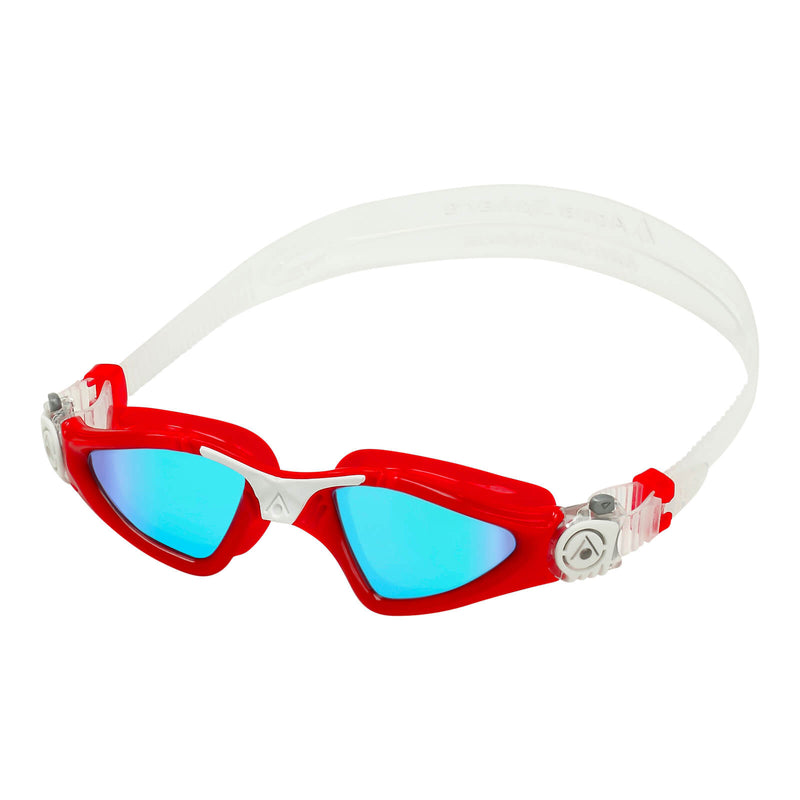 Aqua Sphere Kayenne Small Men's Swimming Goggles Red/White Mirror Blue Alternate 2